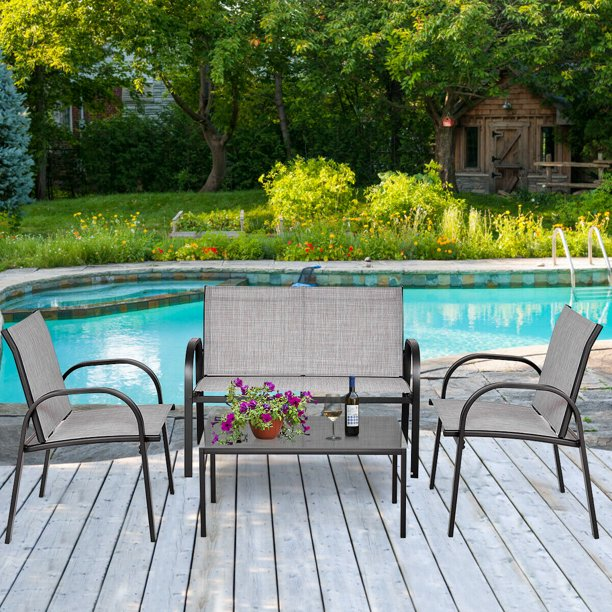 Costway 4 Pieces Patio Furniture Set, What Is The Best Quality Patio Furniture