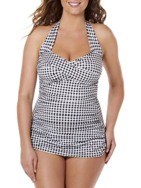 ecbd76a217 Product Image Women's Gingham Check Glam Sheath One-Piece Swimsuit
