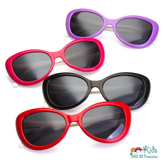 d423a723eeff5 Sunny Shades - Kids AGE 3-12 Cateye Style Girls Sunglasses Children Toddler  Glasses Cute New - Walmart.com