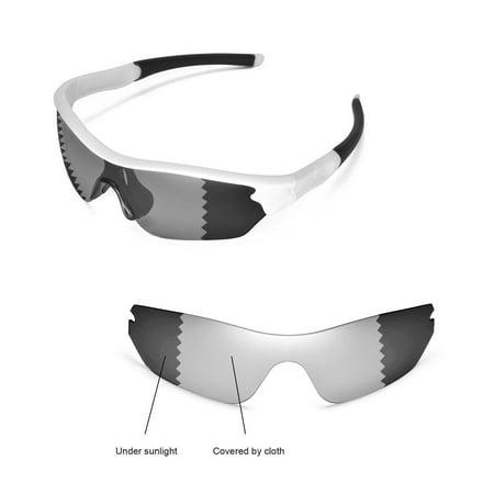 Walleva Transition/Photochromic Polarized Replacement Lenses for Oakley Radar Edge (Oakley Radar Womens)