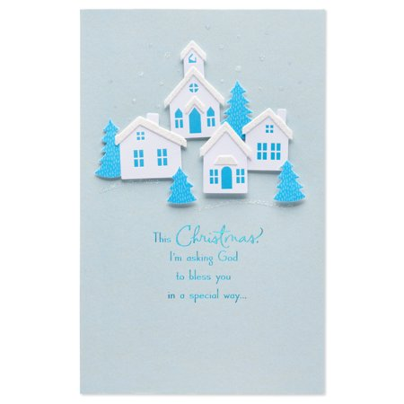 american greetings religious christmas and new year card with glitter
