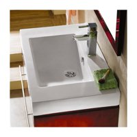 Kingston Brass Mission Ceramic 24'' Wall Mount Bathroom Sink with Overflow
