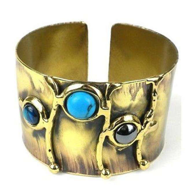Brass Images Deep Sea Shell & Stone Cuff