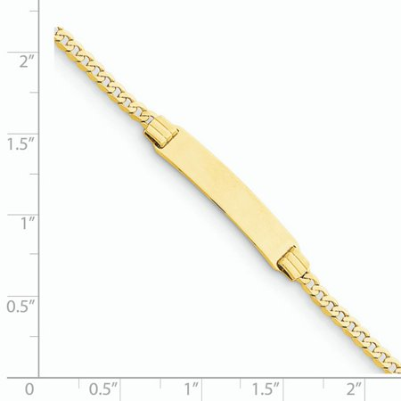 14K Yellow Gold 6 Curb Link Child ID Bracelet - image 1 of 3
