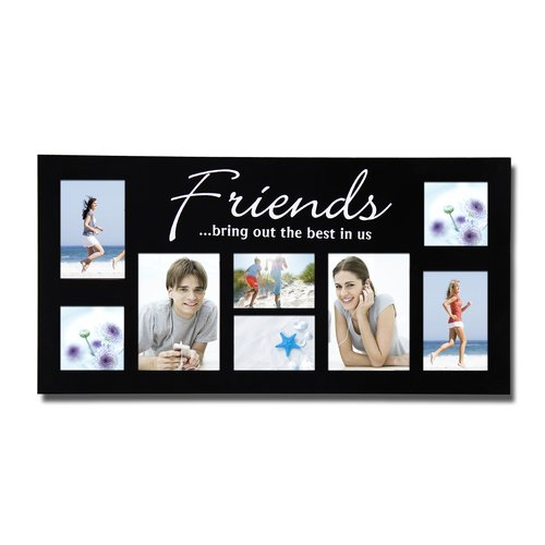 Adeco Trading 8 Opening Decorative ''Friends'' Wall Hanging Collage Picture Frame