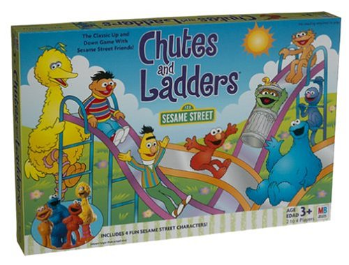 Sesame Street Chutes & Ladders, 2 to 4 players. By Hasbro by