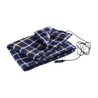 Electric 12V Heat Blanket For Cars Electric Blanket For Cars Trucks Vans Car Charger Blanket [Blue Plaid]