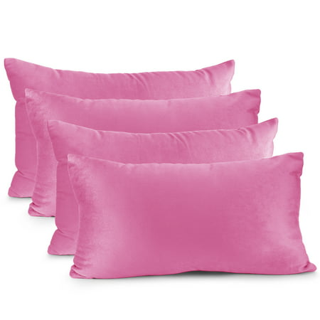 """Pack of 4 Velvet Throw Pillow Covers Decorative Soft Square Cushion Cover , 16"""" x 16"""" - image 1 of 7"""