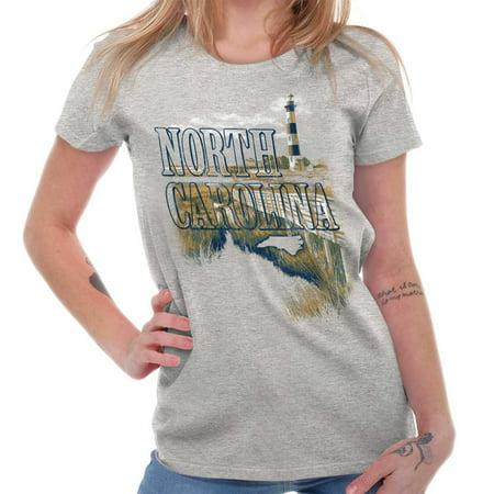 Brisco Brands North Carolina Beach Vacation Adult Short Sleeve T-Shirt](Halloween North Carolina)