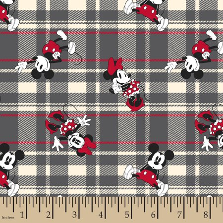 Disney Mickey And Minnie Plaid Cotton Fabric By The Yard](Wholesale Disney Fabric)
