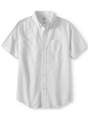 Wonder Nation Boys 4-18 School Uniform Short Sleeve Button-Up Oxford Shirt
