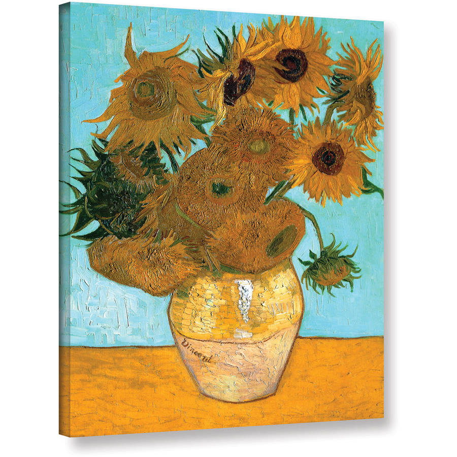 "Vangogh ""Vase With Twelve Sunflowers"" Wrapped Canvas Art"
