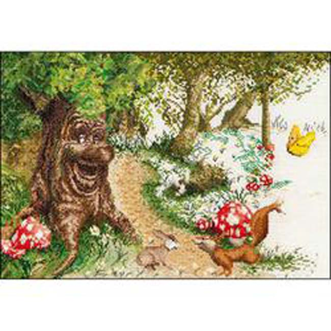 """Thea Gouverneur Counted Cross Stitch Kit 19.75""""X15.75""""-Efteling Sprookjesboom Aida (12 Count)"""