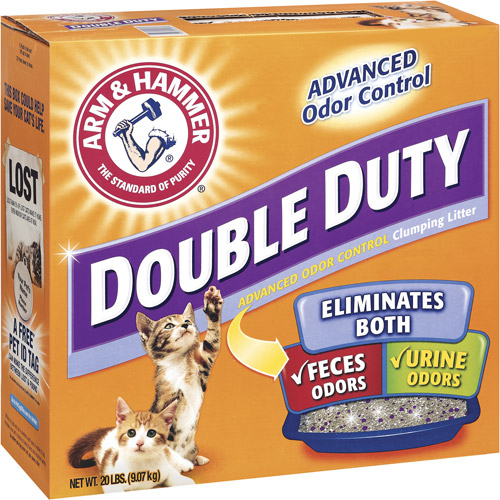 Arm & Hammer Double Duty Advanced Odor Control Clumping Cat Litter, 20 lb