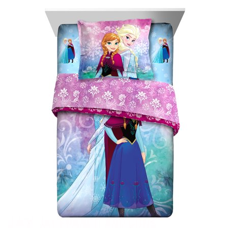 Disney Frozen Nordic Frost Comforter Set with Sham, 2 Piece (Frozen Bed Twin Set)