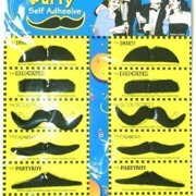 1 Fake Mustache With Adhesive (One Will Be Chosen Randomly From Sheet Shown)