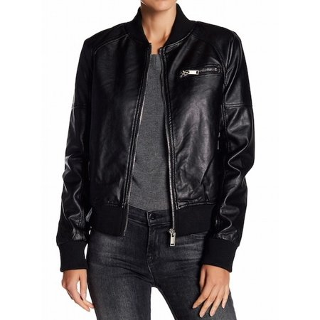 689b335d3 John + Jenn NEW Black Womens Size Small S Vegan Leather Bomber Jacket
