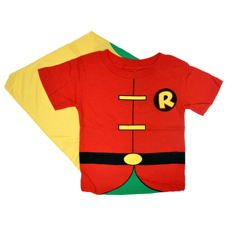 Batman's Robin Toddler Baby Boys Costume T-Shirt with Cape
