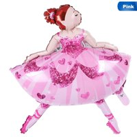 KABOER 40 Inch Large Ballerina Girl Foil Balloons Happy Birthday Wedding Decorations Balloons Inflatabler Helium Balloon Party Supplies Cute