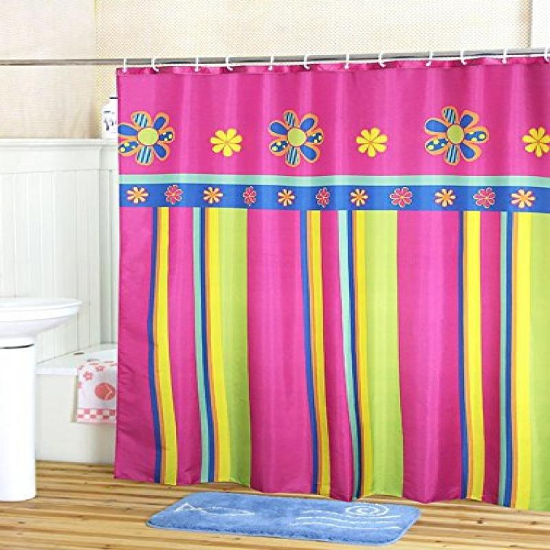 Extra Wide Shower Curtain Set 96 X 78 Inches   Welwo