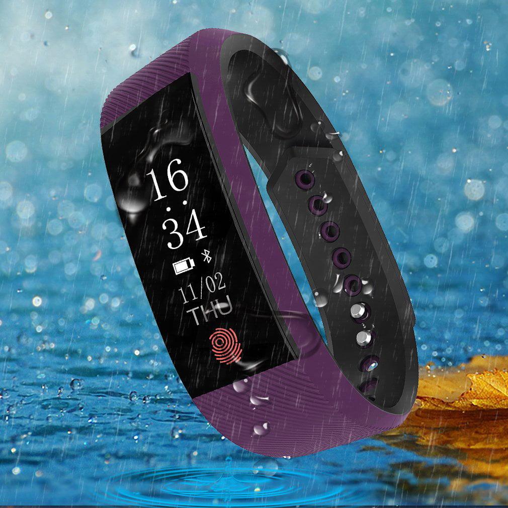 Multifunctional Waterproof Heart Rate Sleep Monitor Fitness Bracelet OLED Touchpad Smart Wristband Activity Trackers Pedometer