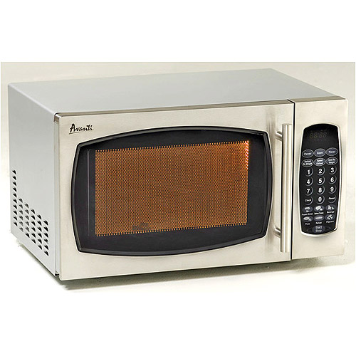 Avanti 0.9 cu. ft. Countertop 900-Watt Microwave Oven, Stainless Steel Finish