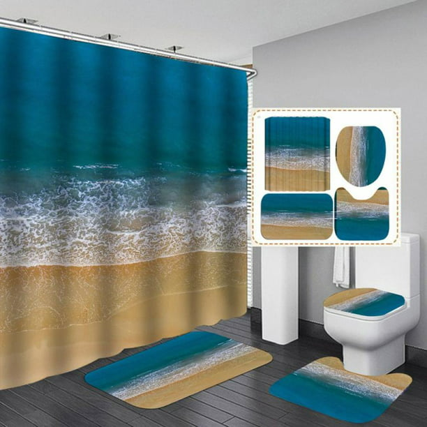 Shower Curtain Set Bathroom Sets, Bathroom Sets With Shower Curtain And Rugs