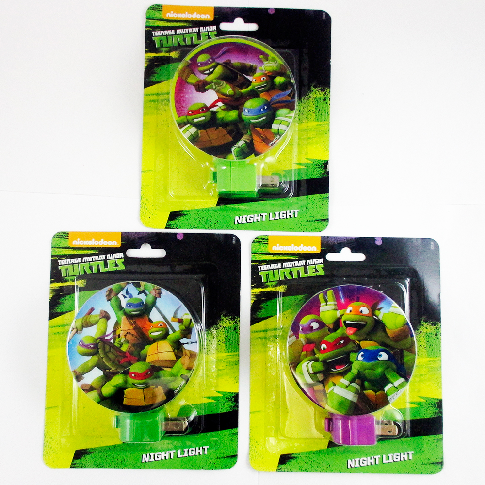 1 Ninja Turtles Teenage Night Light Plug Kids Room Bed Lamp Nightlight Child New