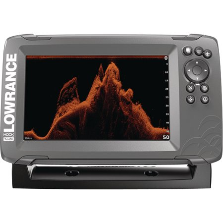 Lowrance 000-14020-001 HOOK-2 7X Fishfinder with GPS Plotter, SplitShot Transducer, DownScan Imaging, Autotuning Sonar & 7