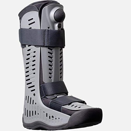 Ossur Rebound Air Walker Boot High Top (Large)  with Compression Adjustable Comfortable Straps and Air Pump Rocker Bottom Ventilated Panels for Ankle Sprains Fractures Tendon Ligament Post-Op (Best Rehab For Sprained Ankle)