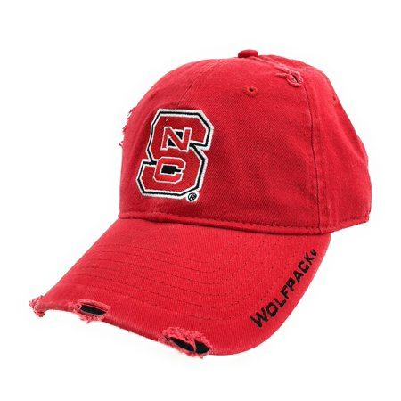 New Red NCAA North Carolina NC State Univ. Wolfpack Embroidered Buckle Back Cap - Nc State Wolfpack Money Clip