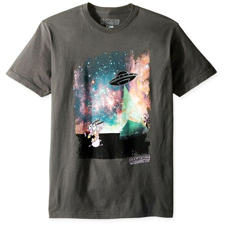 Cartoon Network - Courage the Cowardly Dog Real Alien Abduction Adult T-Shirt