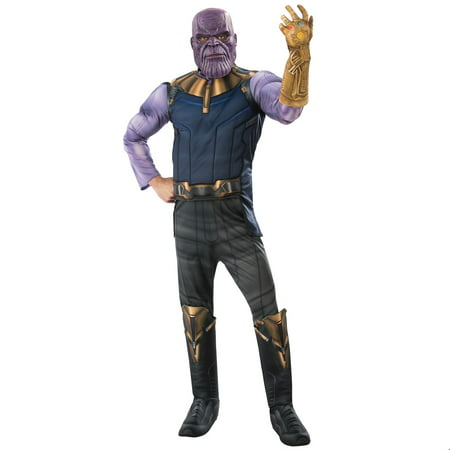 Roman Halloween Costumes Men (Marvel Avengers Infinity War Deluxe Mens Thanos Halloween)