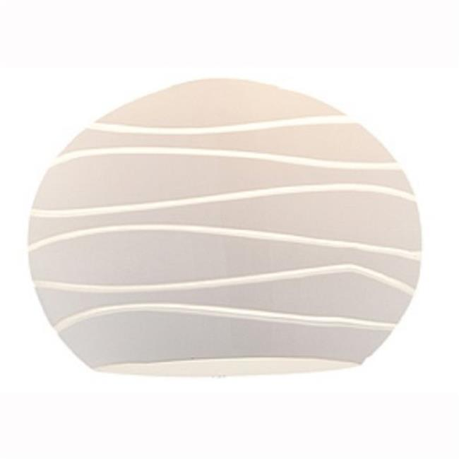 Access Lighting 979WJ-WHTLN Sphere Etched Glass Shade Pendant - White Lined - image 1 of 1
