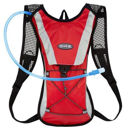 Kuyou Hydration Pack Water Rucksack Backpack Bladder Bag Cycling Bicycle Bike Hiking Climbing Pouch   2L Hydration Bladder  Red Water Pouch