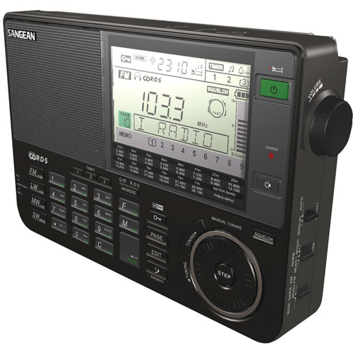 Sangean ATS-909X-BK Professional Multi-Band AM/FM/SW Receiver, Black