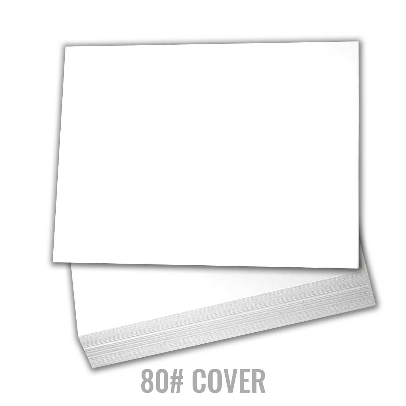 White Cardstock Thick Paper 5 X 7 Blank Index Flash Note Post