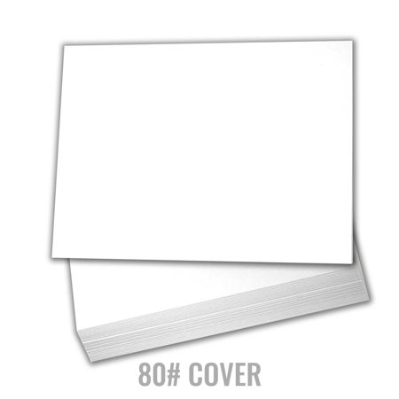 Black White Postcard (White Cardstock Thick Paper - 5 x 7
