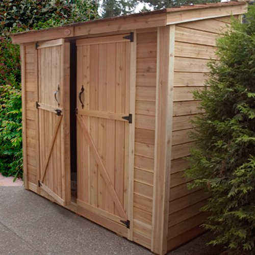 Outdoor Living Today SS84D SpaceSaver 8 x 4 ft. Double Door Storage Shed