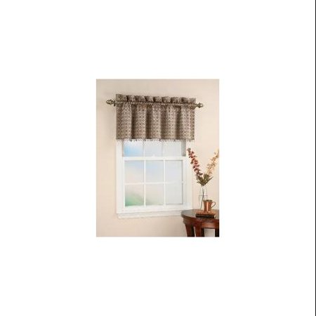 CHF Industries Mallorca 18-inch Beaded Window Valance - Walmart.com