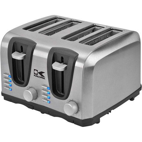 Kalorik 4-Slice Toaster, Stainless Steel
