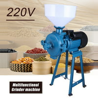 Electric Animal Poultry Feed Mill Wet Dry Grinder Corn Grain Rice Wheat 220V Random Color