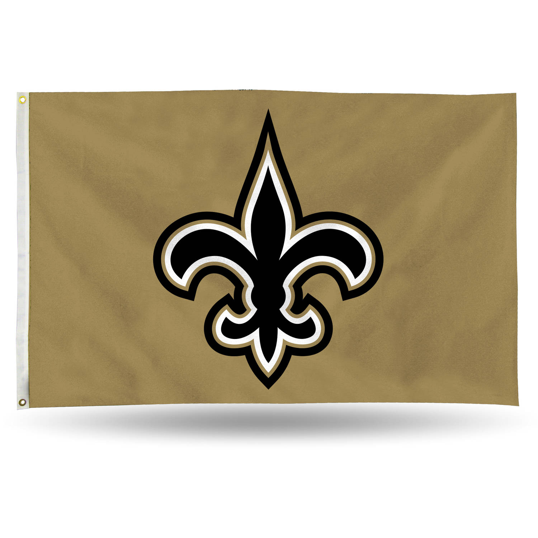 Rico Industries NFL 3' x 5' Banner Flag, New Orleans Saints