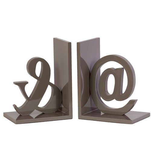 Urban Trends Collection: Wood Alphabet Bookend Coated Finish