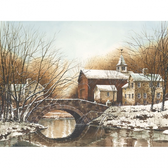 Winter Reflections Poster Print by John Rossini (24 x 18)