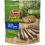 Tyson Grilled & Ready Fully Cooked Grilled Chicken Breast Strips, 22 oz. (Frozen)