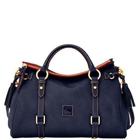 Dooney & Bourke Florentine Leather Satchel Navy Blue
