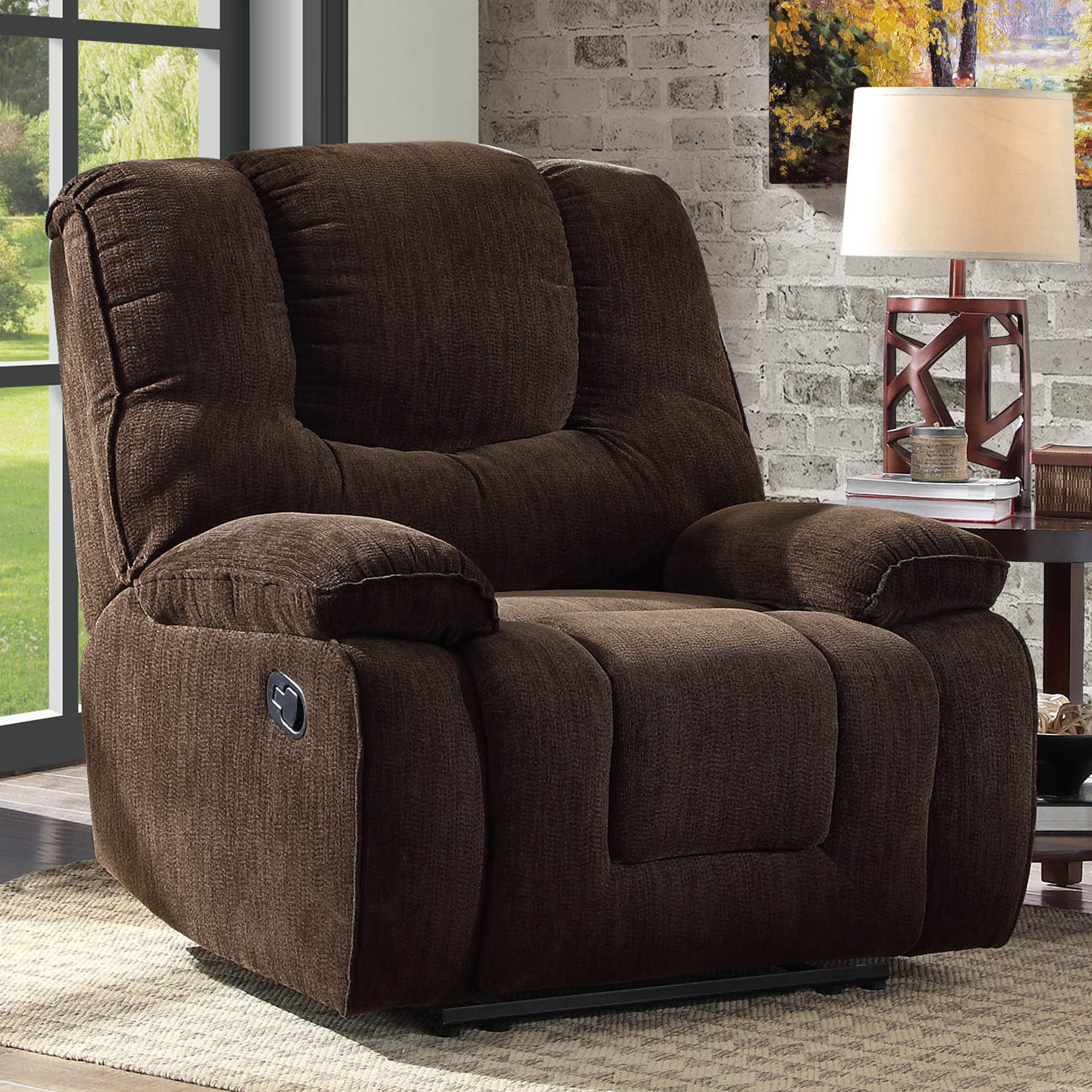 Better Homes and Gardens Big & Tall Recliner with In-Arm Storage and USB, Multiple Colors