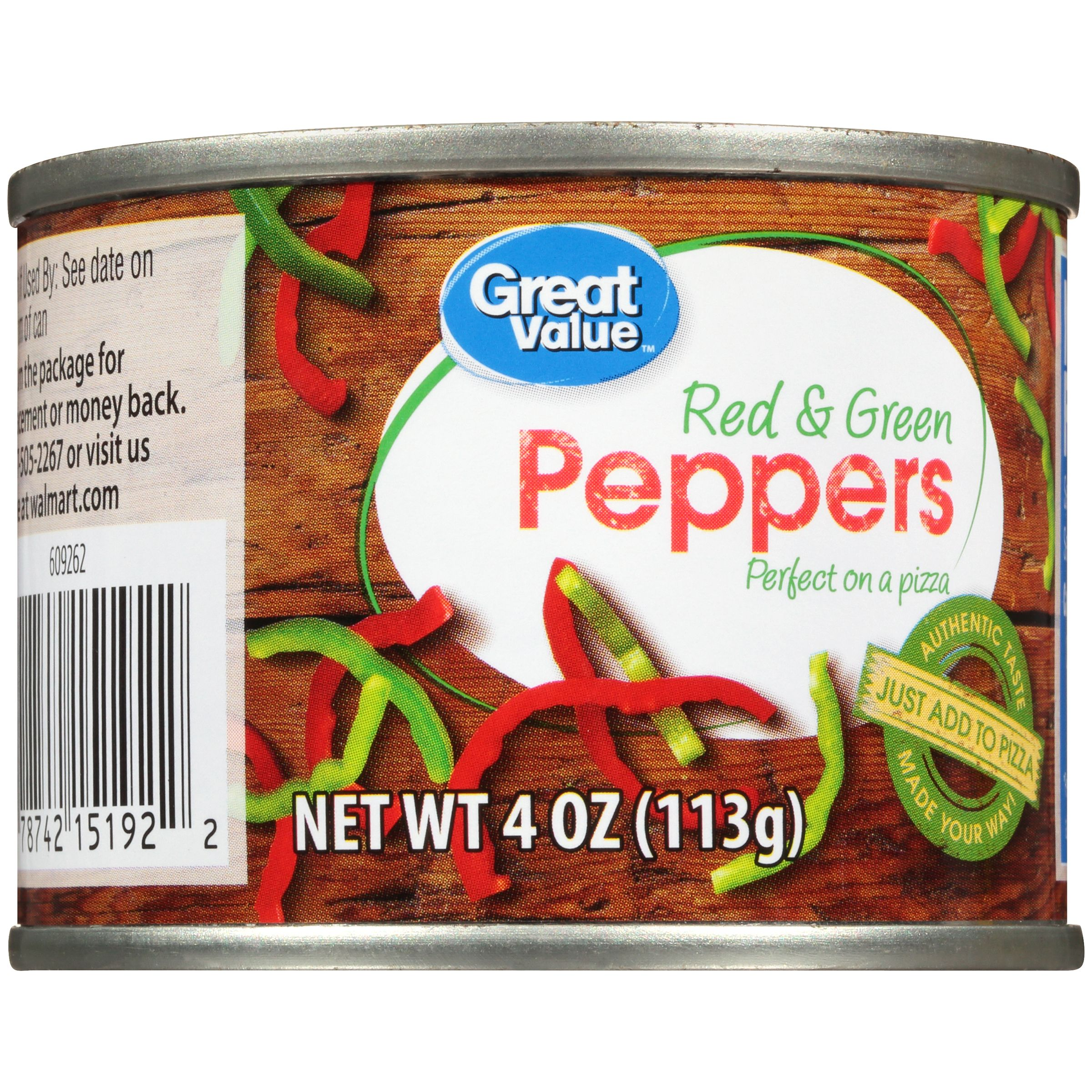 (5 Pack) Great Value Red & Green Peppers, 4 oz