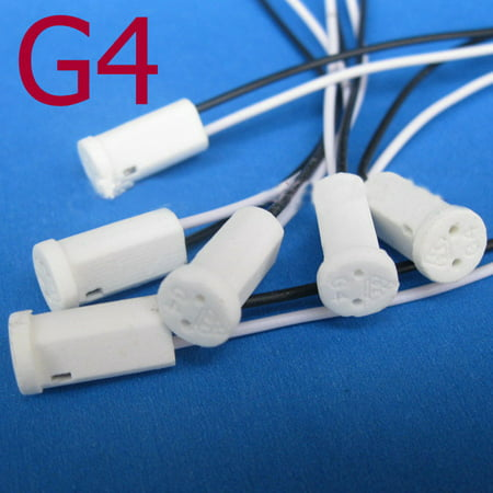 G4 Base Holder Ceramic Fire Prevention Wire Adapter Halogen Socket Connector for LED Bulb - Fired Ceramic Frag Disks